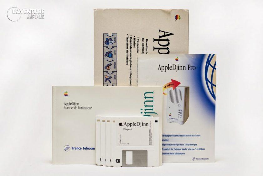 Apple Djinn Modem France Télécom box disks
