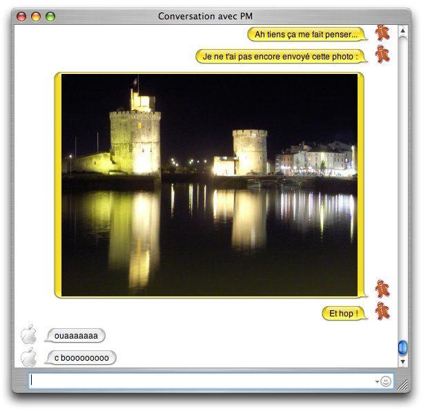 Apple iChat image