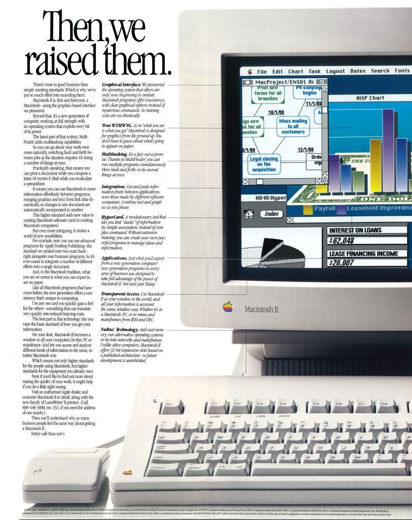 Macintosh II, safest decision in business foldout