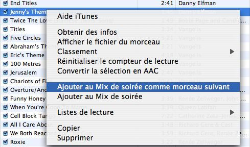 iTunes 4.5 Party Shuffle import