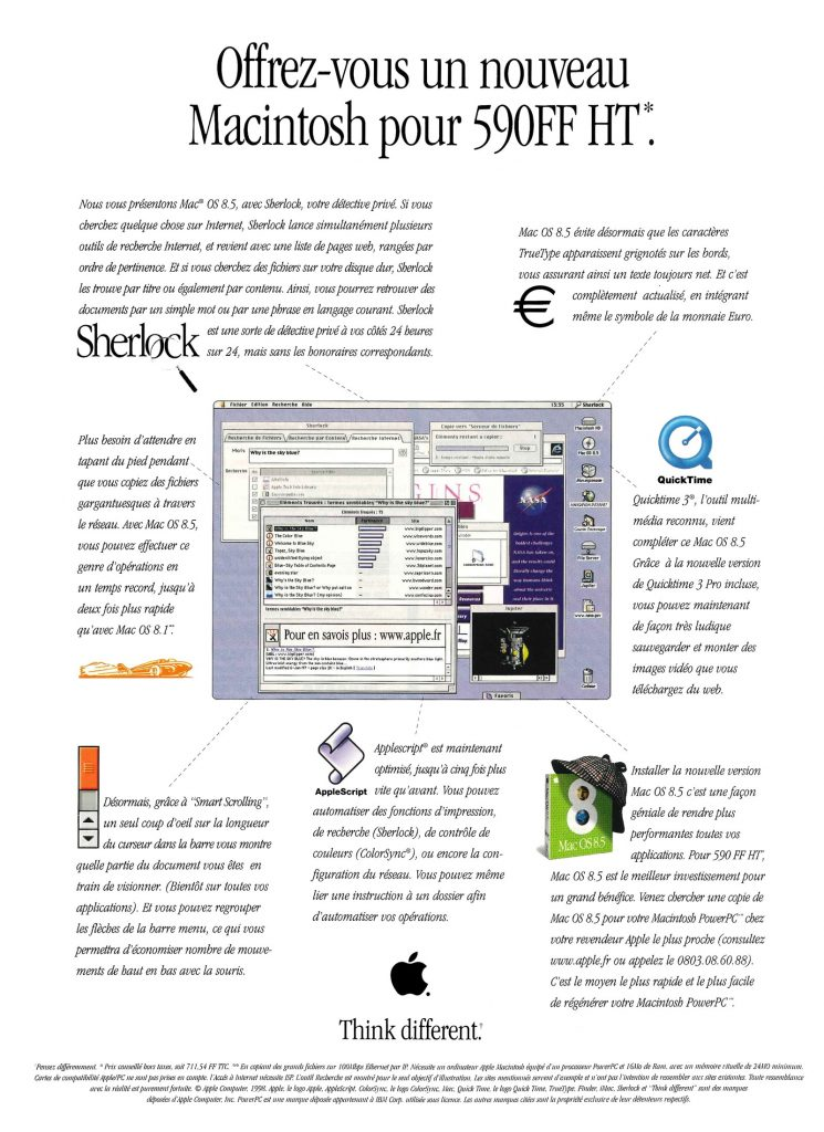 Publicité Apple Mac OS 8.5