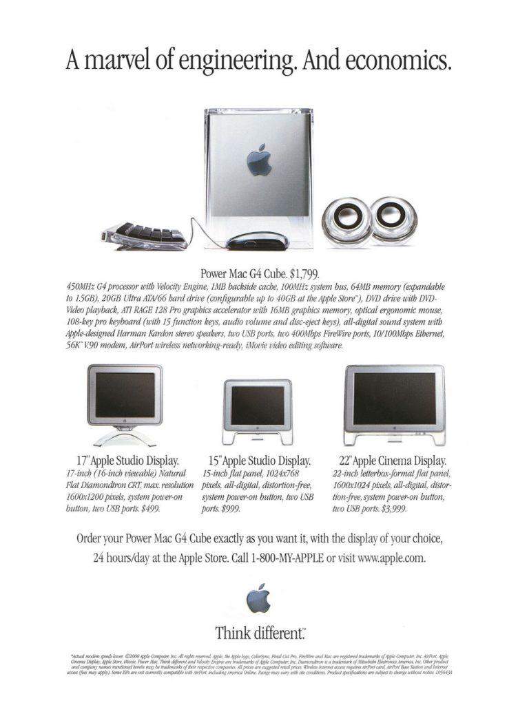 Power Mac G4 Cube ad