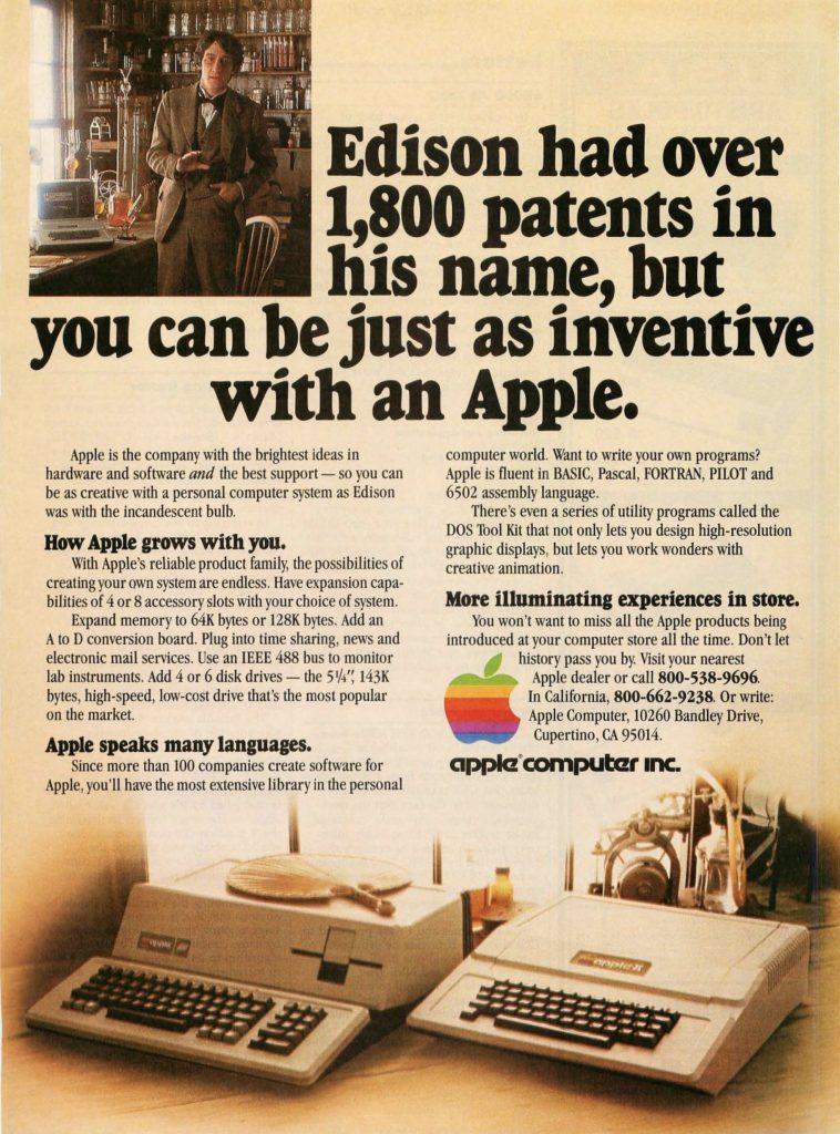 Apple 1981 ad : Thomas Edison