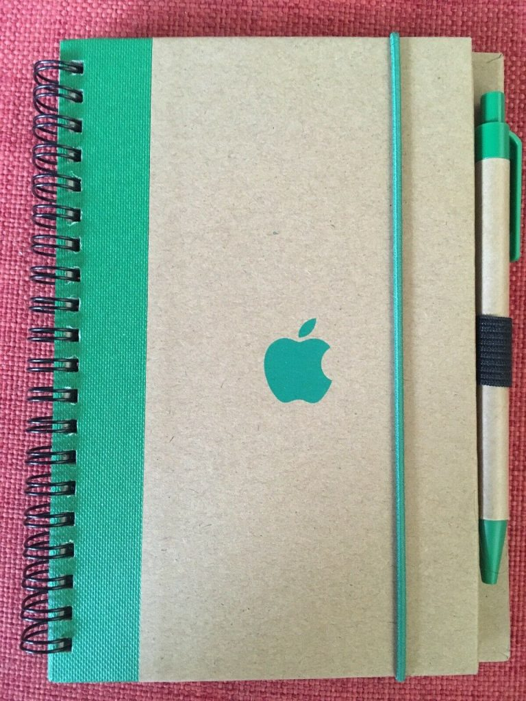 Apple recycled notepad
