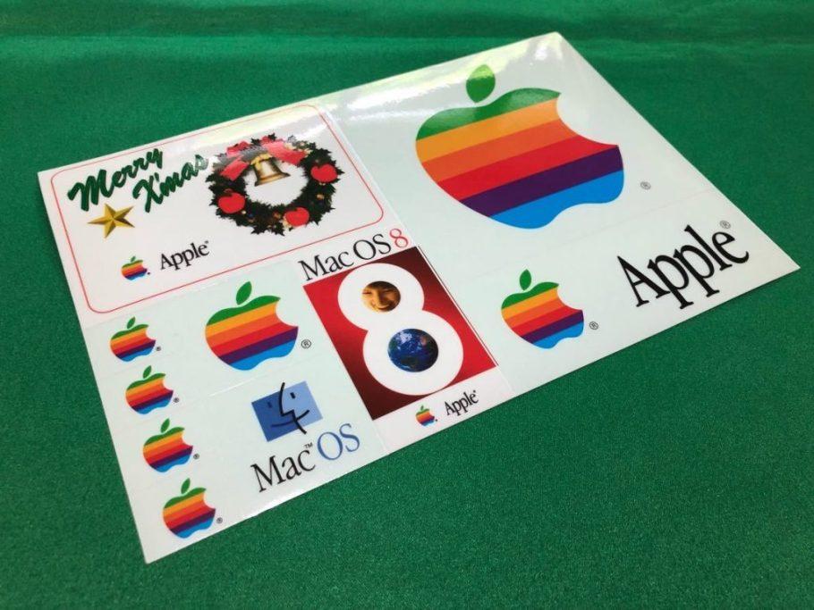Apple autocollants japon merry xmas