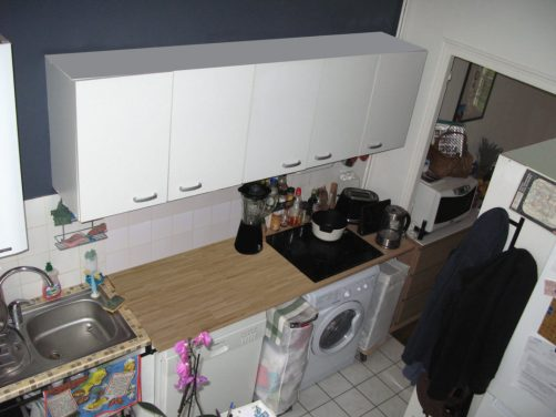 Décoration Arty sur une cuisine ouverte