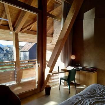 Suite au dessus du spa de l'hôtel des Berges dans le complexe de l'Auberge de l'ill