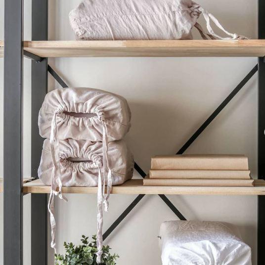 most propose de magnifique parure de lit en lin lavé, en percale lavé et en satin de coton