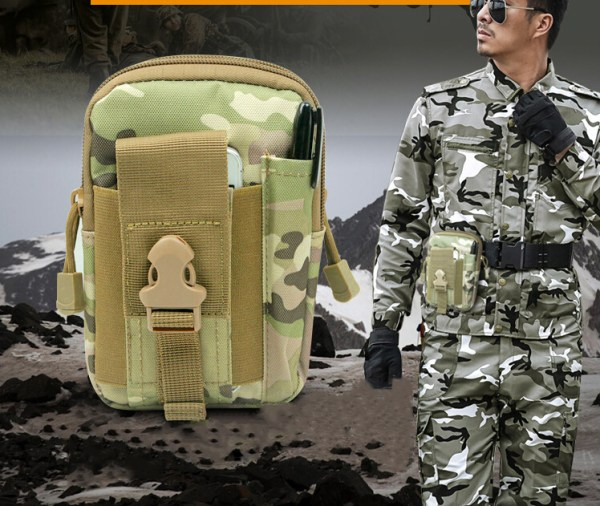 sac de taille camouflage pour camping