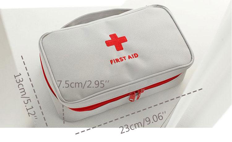 taille du kit de soins d'urgence