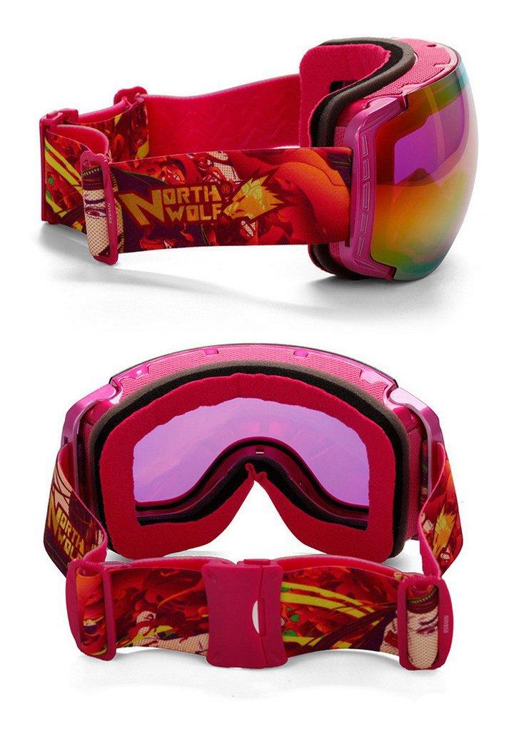 lunettes de ski roses