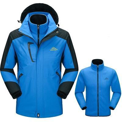 manteau hivernal bleu clair