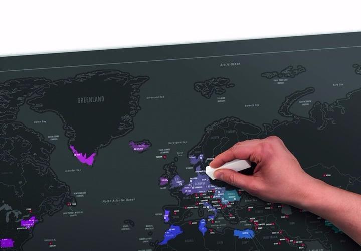 gratter la carte du monde