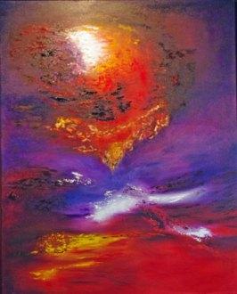 Apocalyps, Olieverf op doek 80 x 100 cm.