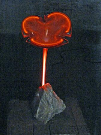 """De """"Plasma Flower""""van Remy de Feyter verlicht de pekelkamer feëeriek."""