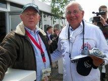 De Winnaar van The Great Race 2013, en Bart.