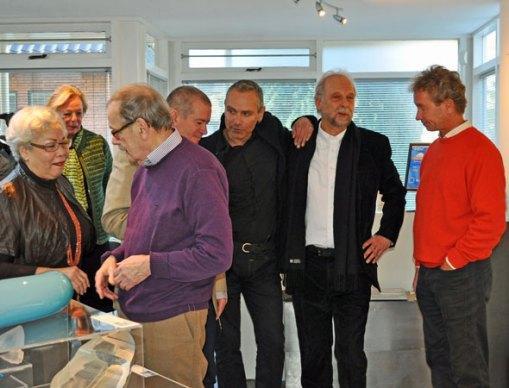 vlnr Margriet en Henk Pleiter, Neil Wilkin, Menno Jonker, Han de Kluijver, Peter Bremers.