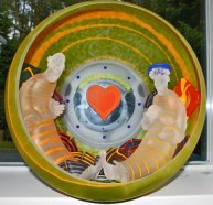 "Stanislav Jan Borowski, ""The Lounge"", diverse glastechnieken, diameter 50 cm."