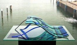 """Debbie Boender, """"PiP-015"""", 3D object, gefused glas, 2014."""