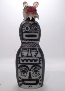 "Maurice la Rooy, ""Totem"", hg 55 cm."