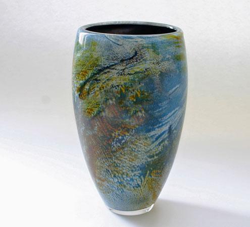 """Earthsong"""" geblazen glas unica"""