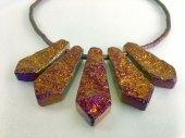 'Collateral cutie', Titanium covered agate stones, magnet locket