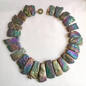 'Magical Realism', Titanium covered agate stones.