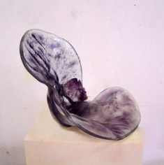 """Purple Shell"", glas, amethyst, 23x42x29 cm."