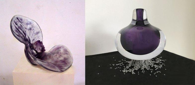 "Theo ten Have: ""Purple Shell"". Angela Teunissen: ""Wonderbaar""."