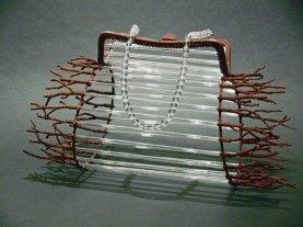 Metaal, Glasstaafjes, geprepareerde takjes, gekleurd. glasparels.