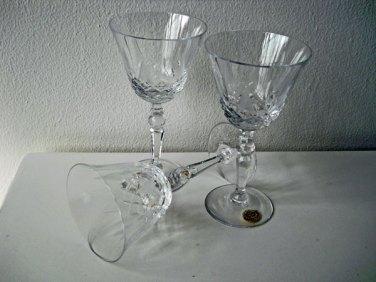 Tulp-Portglazen kristal, diamant geslepen van Trischler Winterhalder&Co. Dld.