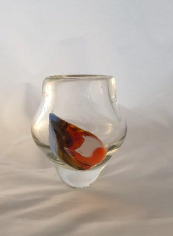Raindrop Pot - geblazen en gerecycled glas hoog 16 cm