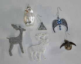 Harry-Potter, Christmas ornamenten, glas en metaal.
