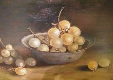 Druiven - olieverf, 40 x 30 cm.