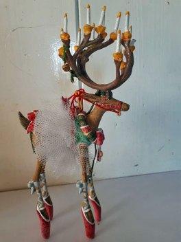 Kerst Rendier - USA - hars - polyester - kant.