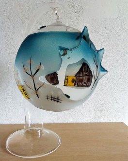 Kerstgrot - glas - handvervaardigd - Oostenrijk.