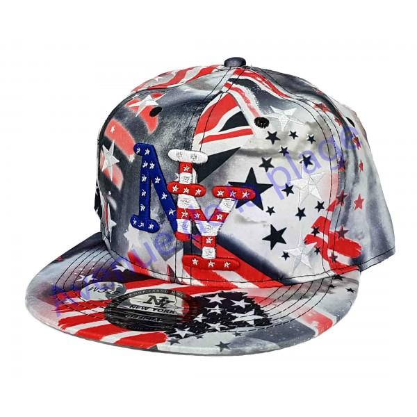Casquette NY drapeau Amricain et Anglais casquette mode pas cher