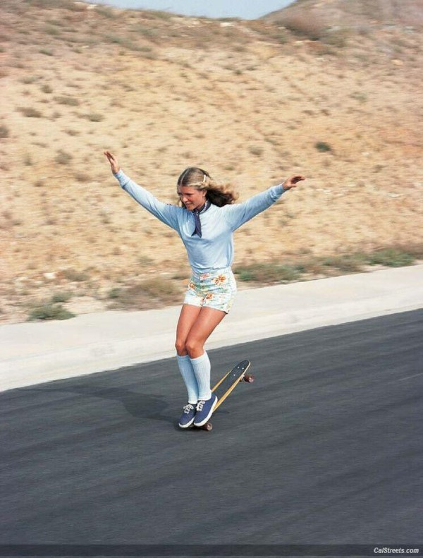 Ellen O'Neal, the greatest woman freestyle skateboarder in the 1970s