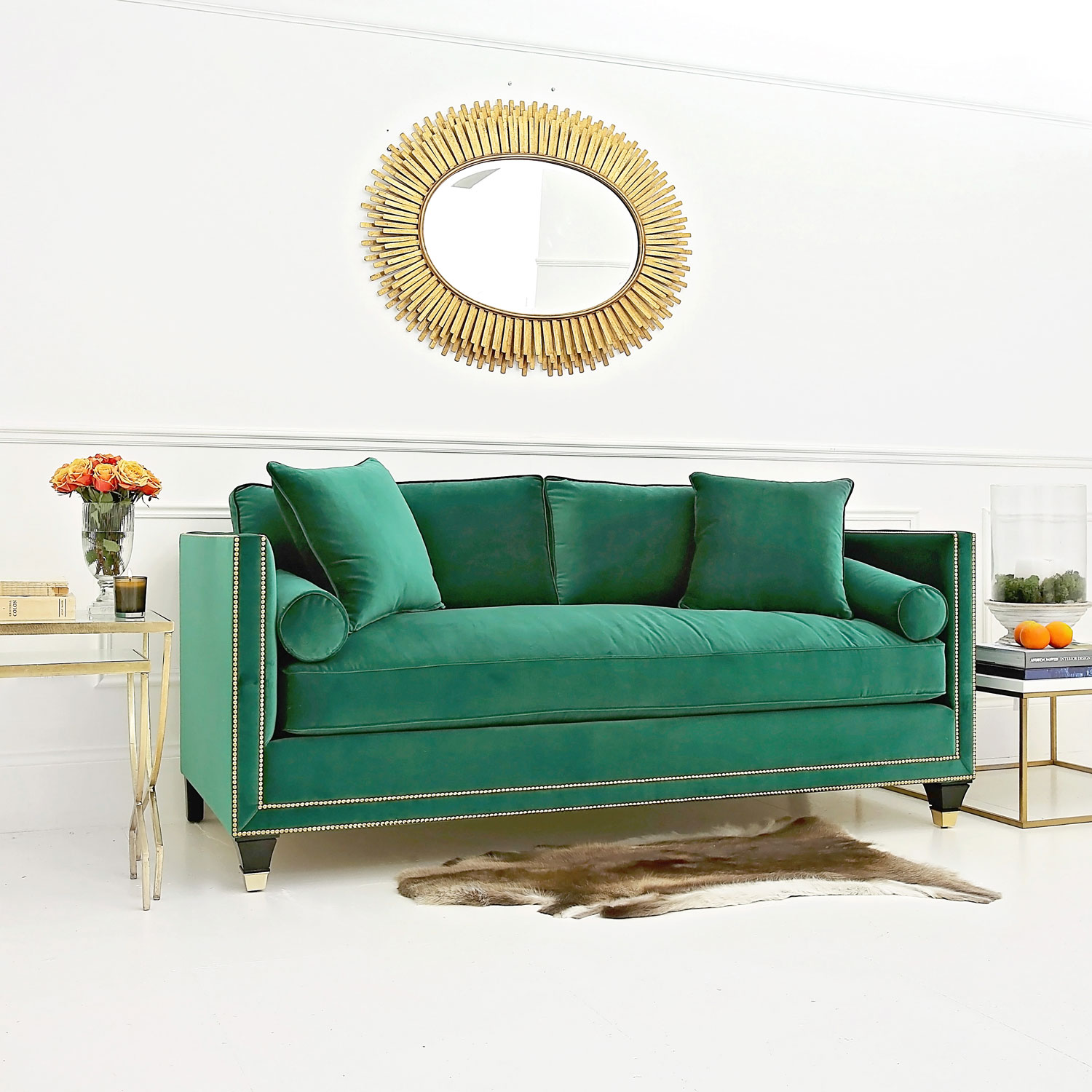 emerald green velvet chair hanging bedroom homes and interiors trend stylish statement sofas avenue15