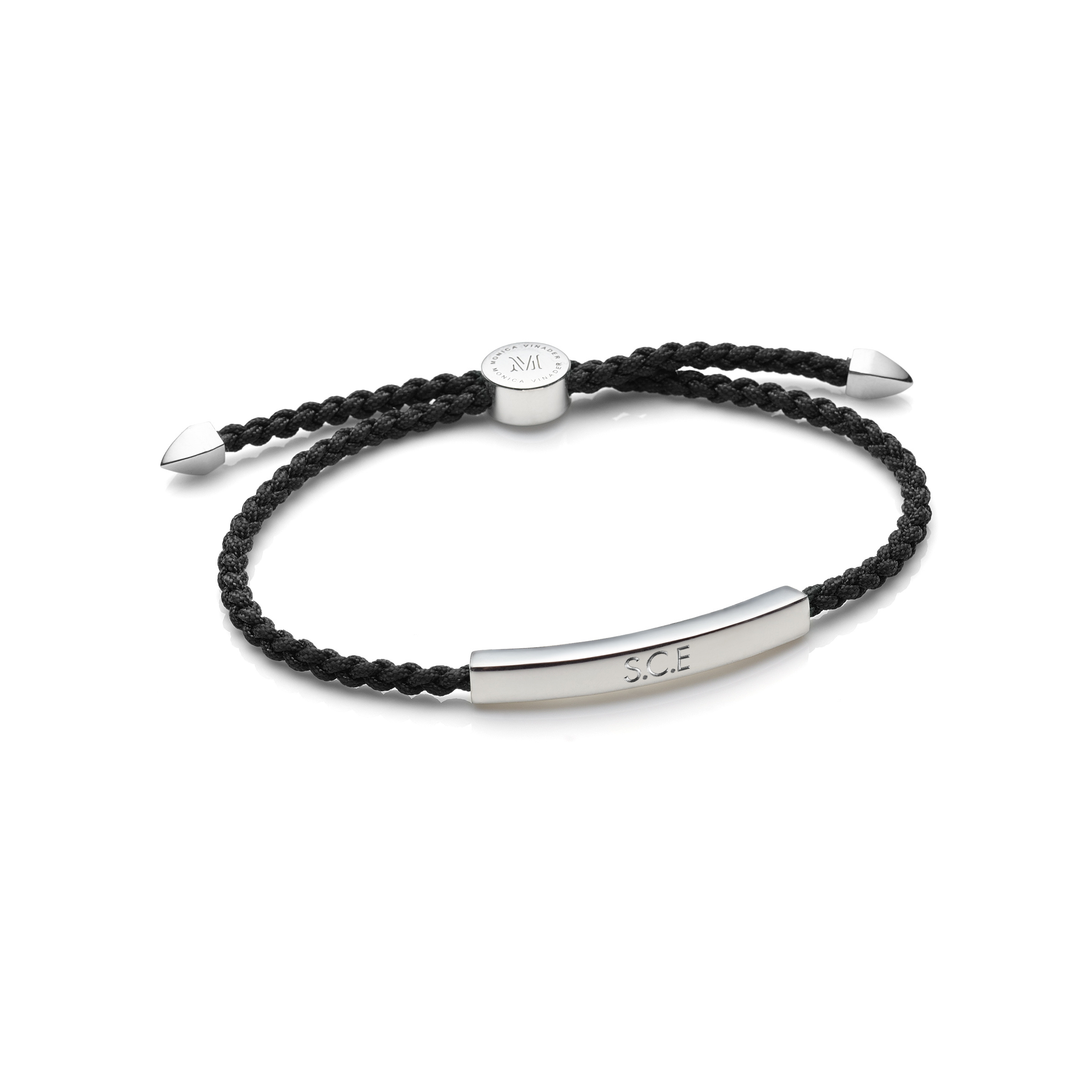 Linear Mens Friendship Bracelet Sterling Silver Monica