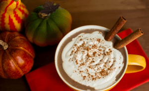 pumpkin spice latte. i even saw a recipe recently that used pumpkin puree!