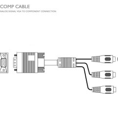Vga Cable Wiring Diagram 15 Pin 1966 Mustang Dash Light To Component [vga-comp-cable] : Avenview