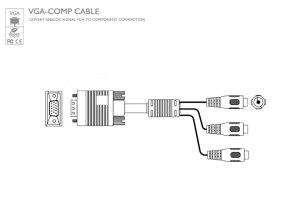 VGA to Component Cable [VGACOMPCABLE] : Avenview