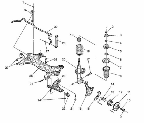 small resolution of chevy aveo front end diagram wiring diagram list chevy aveo suspension diagram