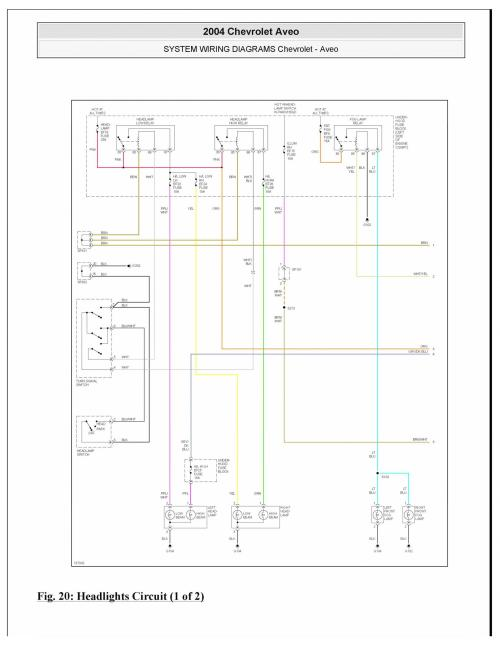 small resolution of no headlights can find a wiring diagram aveo engine diagram 2004 chevy aveo light wiring diagram