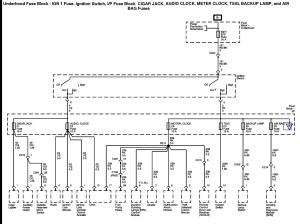 2005 Aveo Power and Ground Distribution Diagrams