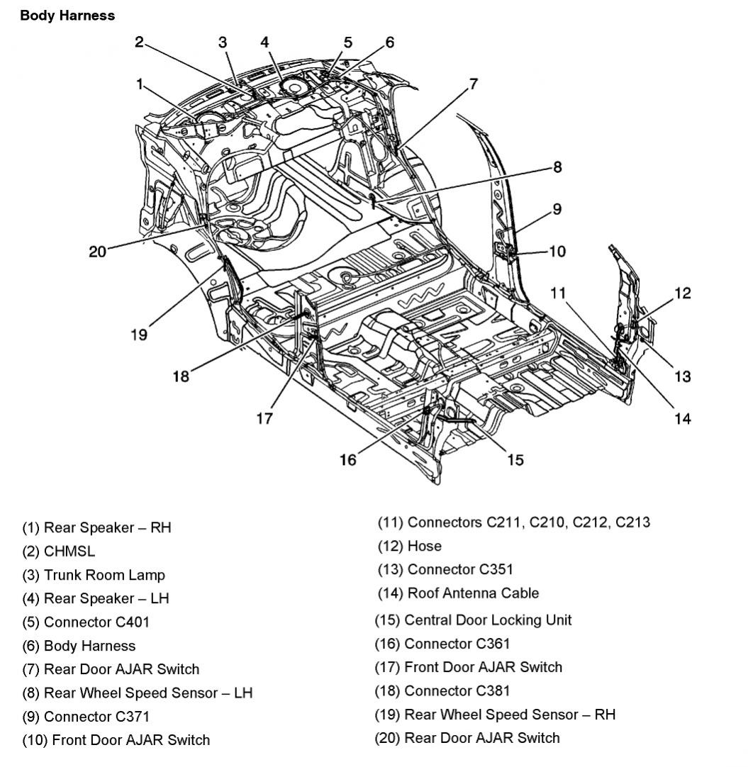 hight resolution of 2005 aveo master connector list and diagrams rh aveoforum com 2005 chevy aveo wiring harness 2008