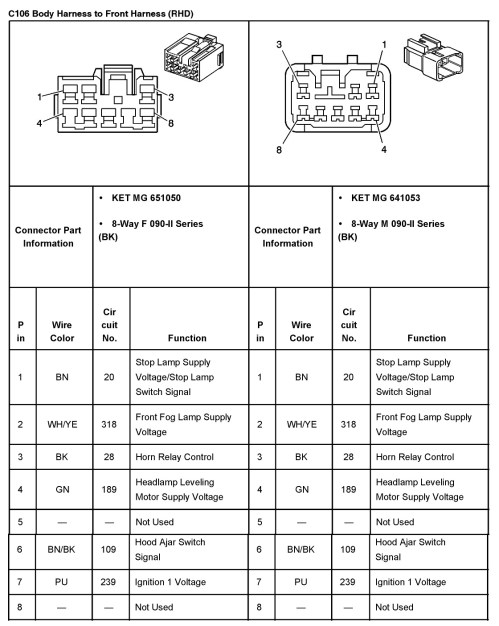 small resolution of 2005 aveo master connector list and diagrams rh aveoforum com 02 ford explorer fuse diagram ford