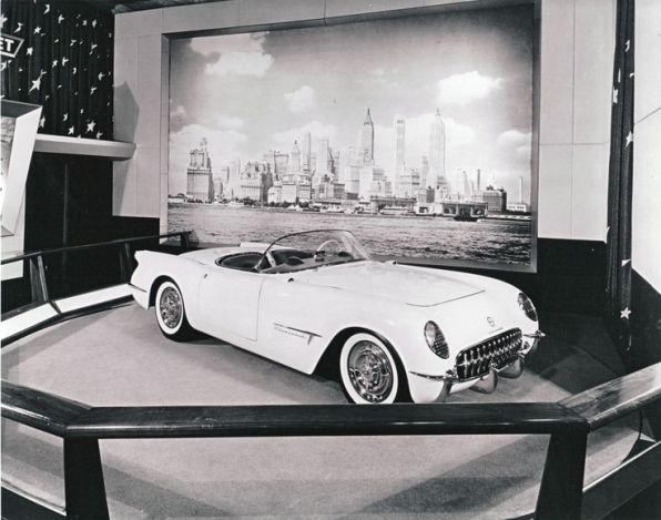 From the 1953 Motorams - Corvette Display