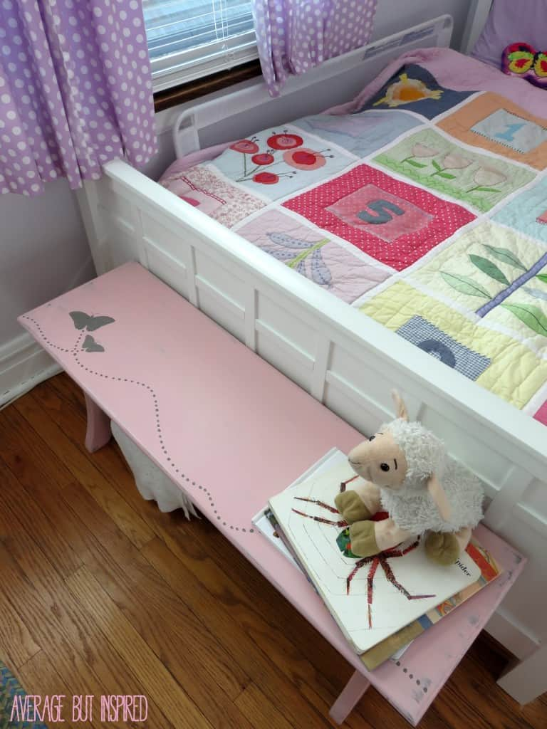 Butterfly bench in Country Chic Paint Vintage Cupcake by Average But Inspired